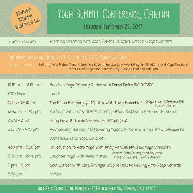 Yoga Summit_Sat_Schedule